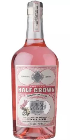 Rokebys, Half Crown Rhubarb and Ginger Gin Liqueur 20 % 70.cl