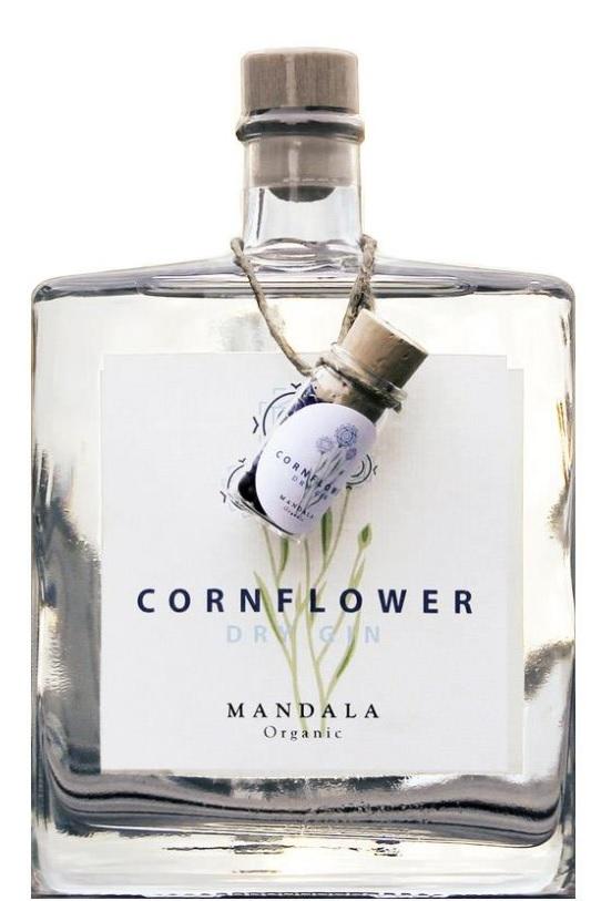 Cornflower Dry Gin Mandela Organic Dansk Gin 50 cl 40,4%