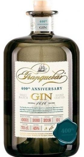 Tranquebar 400th Anniversary Gin 45%