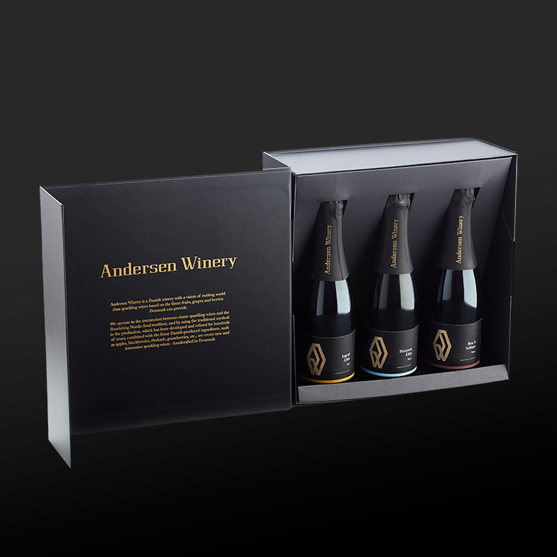 Mousserende Andersen Winery Gaveæske m. 3 flasker 37,5 cl