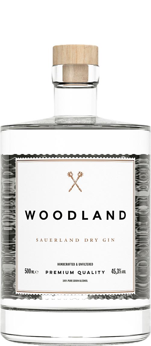 Woodland Sauerland, Dry Gin 46% - 50 cl.